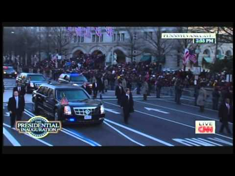 President Obama & Michelle Obama Inaugural Parade Walk Pennsylvania Avenue (January 21, 2013) [1/2]