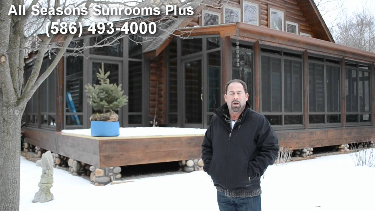 Custom sunroom for log cabin home in algonac michigan by for Log cabin sunrooms