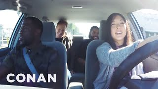 Ice Cube, Kevin Hart And Conan Help A Student Driver  - CONAN on TBS(CONAN Highlight: A CONAN staffer is learning the rules of the road, with a little help from Kevin Hart, Ice Cube, & Conan. Look out, fellow drivers! More CONAN ..., 2016-01-06T04:49:00.000Z)