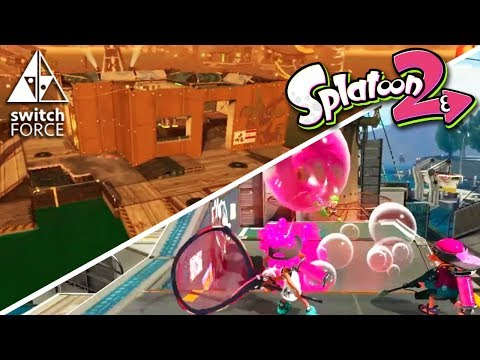 Splatoon 2 NEW Stages (Turf War + Salmon Run) and NEW Special Weapon (Bubble Blower)
