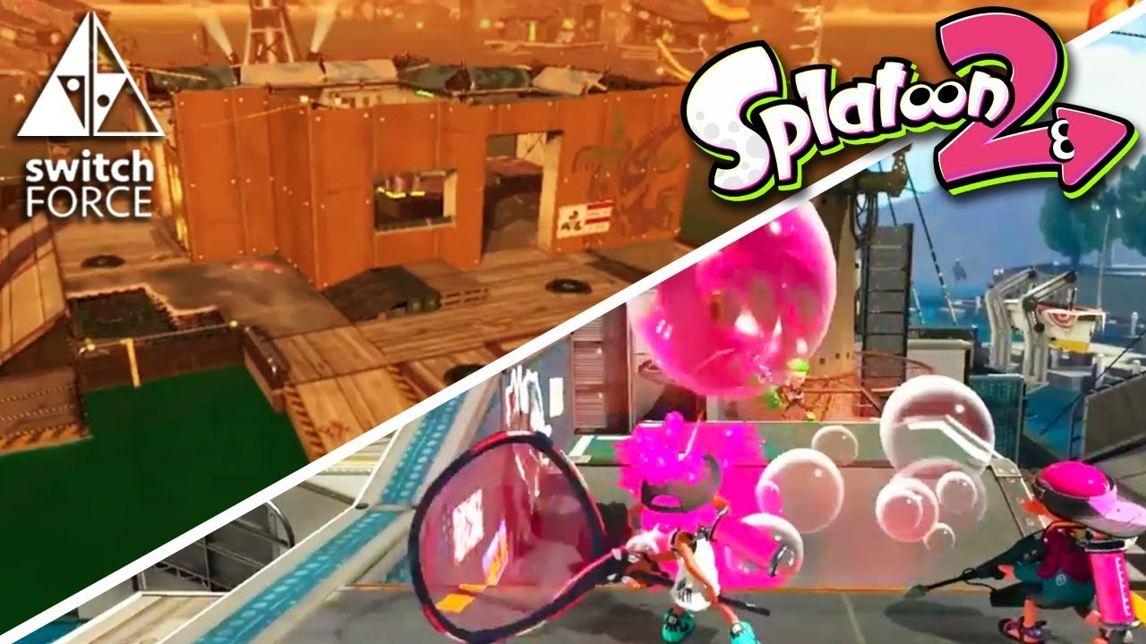 splatoon 2 new stages turf war salmon run and new special weapon