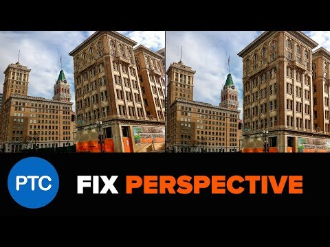 AUTOMATICALLY Fix Perspective Distortions in Photoshop - Automatic Upright in Camera RAW Tutorial