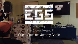 Guest Speaker: Jeremy Gable on Developing Watch Me Jump & Adapting a Stage Play into a Game