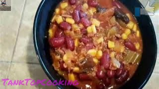 How to Cook Beef Chili Recipe~Delicious Slow Cooker Recipe~Tank Top Cooking#Tasty#Awesome#Delicious
