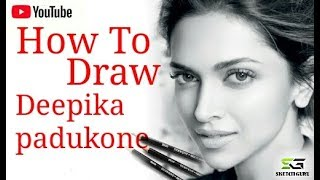 How to draw deepika padukone step by step (in hindi)| detail explain