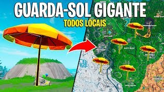 FORTNITE-PLACES OF THE GIANT UMBRELLAS! FREE REWARD SUMMER EVENT!