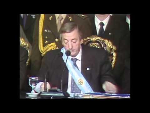 Asuncion de Nestor Kirchner a la Presidencia de la Nacion