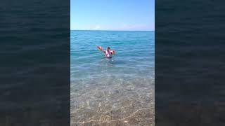 видео Центральный пляж поселка Цандрипш