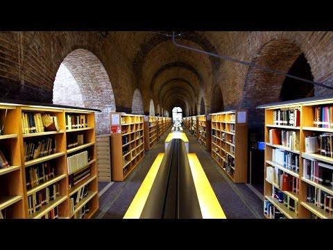 Barcelona,  Library / Biblioteca UPF, Dipòsit de les Aigües. Pompeu Fabra Universidad / University