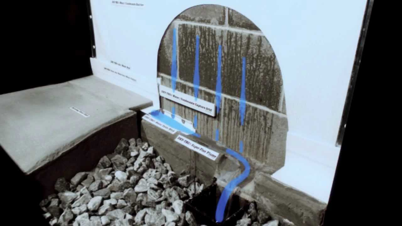 the trotter dry tec basement waterproofing system youtube