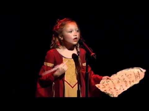 Shakespeare Sonnet 18 performed by 8 year old child actress Alexis Rosinsky