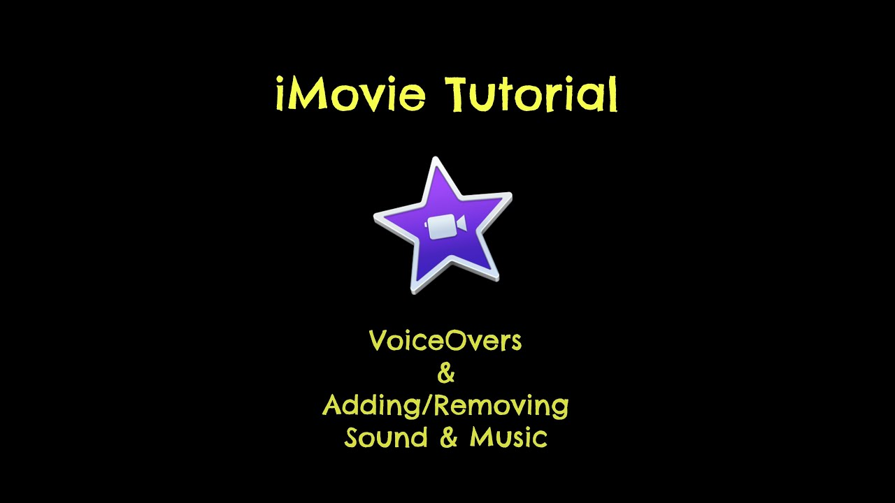 How To Make A Video W Imovie Creating Voiceovers Dropping