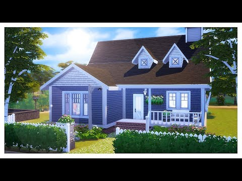 THE SIMS 4: HOUSE BUILDING | Cape Cod Cottage (Cats and Dogs LP)