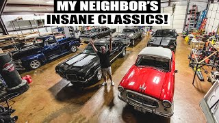 Neighbor gives me tour of his INSANE classic car collection!