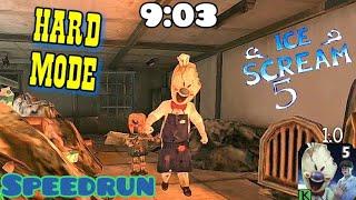 Ice scream 5 - Speedrun (9:03), hard mode