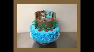 Pastel de Moana- decoración desde Cero... Luis Sibrian