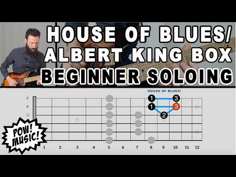 Easiest Way to Play Pentatonic Scale - House of Blues/Albert King Box - Beginner Soloing (FretLIVE)