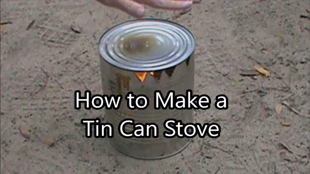 How to make a tin can stove cooking essentials youtube for How to make a stove