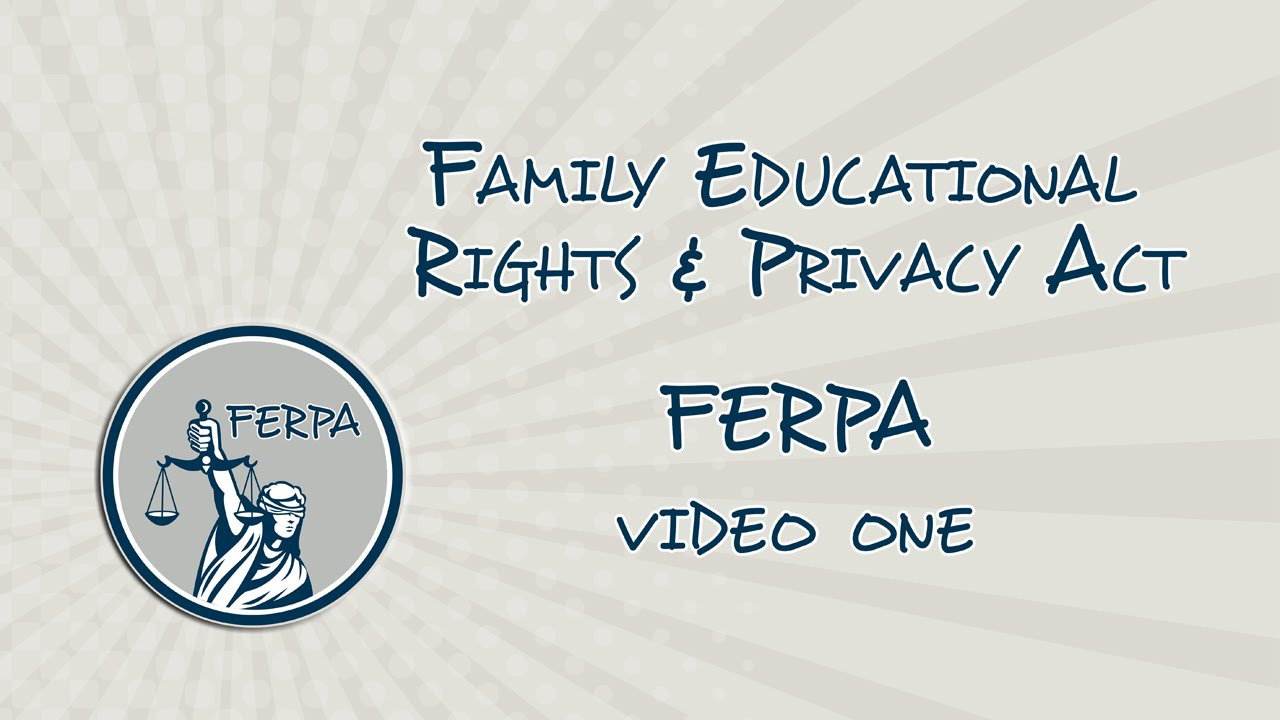 Ferpa Training Video 1 Youtube