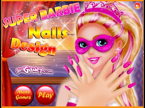 Barbie Dress Up Games Barbie Nail Design Games Youtube