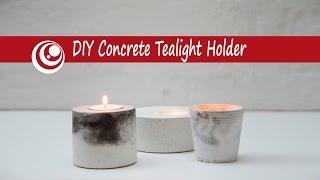 DIY Concrete - Cement Tealight Holder