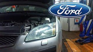 Форд Фокус 2. Замена ремня ГРМ (1,6).
