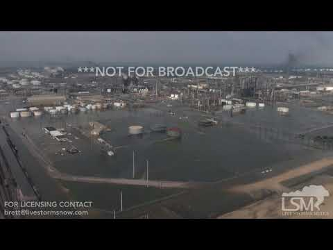8-31-2017 Flooded Oil Refineries, Port Arthur and Beaumont, Tx