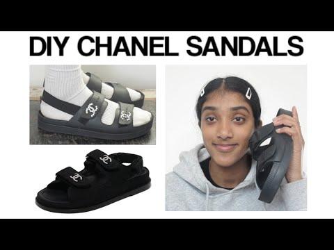 HOT GIRL SUMMER DIY CHANEL SLIDES !!