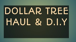 #iamacreator/DOLLAR TREE HAUL #43 & D. I.Y VANITY SET/2018
