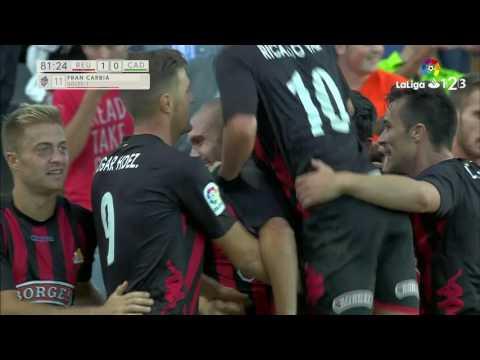 Golazo de Fran Carbià (1-0) Reus Deportiu vs Cádiz