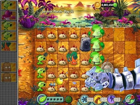 Plants vs Zombies 2 The Complete Epic Hack of Jurassic Marsh Part 2