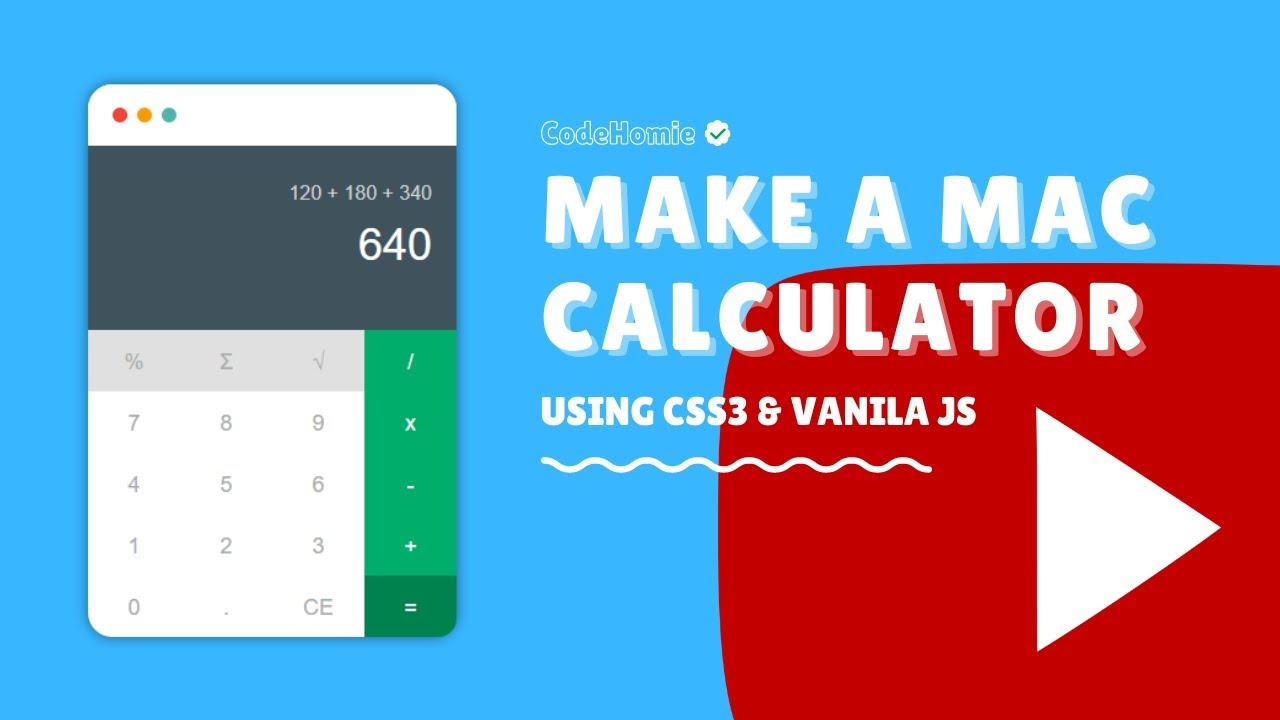 How to create Mac calculator using HTML CSS and JAVASCRIPT || CodeHomie