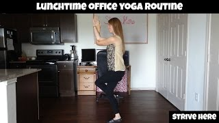 LUNCHTIME OFFICE YOGA ROUTINE - WAKE UP AND GET RID OF TENSION