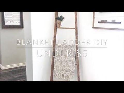 Blanket ladder diy