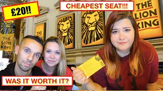WE GOT HER THE CHEAPEST SEAT AT LION KING THEATRE SHOW LONDON! How you can get super cheap tickets!