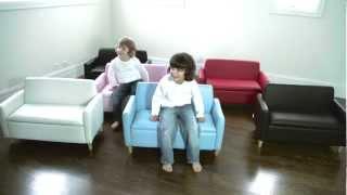 Hip Kids Hudson sofa chair w/ Toy Storage | Childrens Couch Sofas