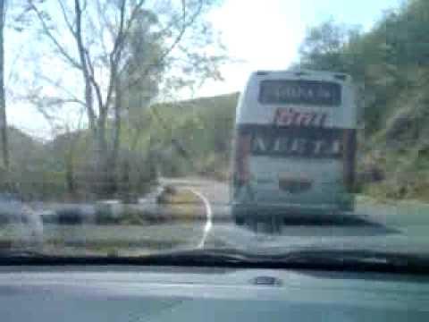 neeta volvo on mahabaleshwar roads speed - YouTube