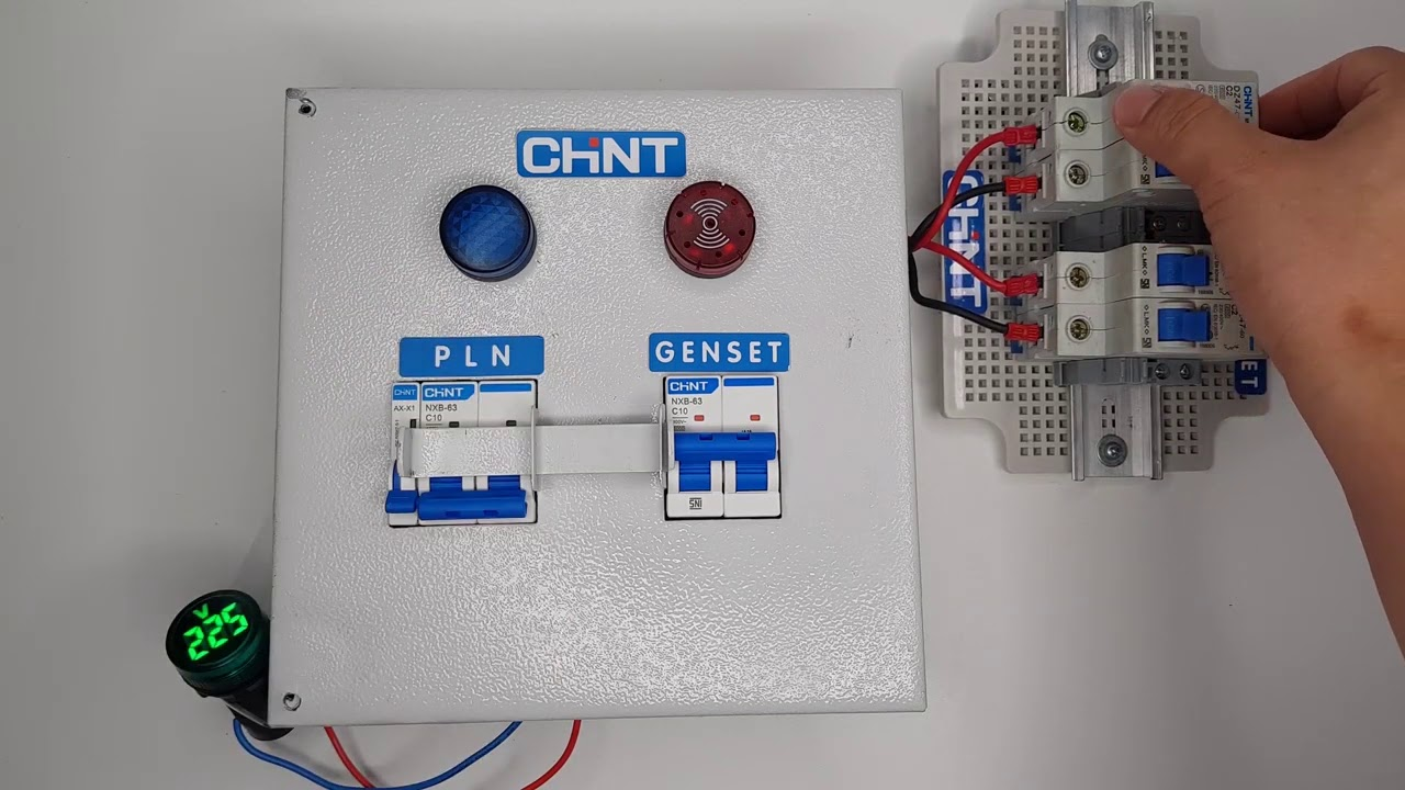 panel interlock switch pln genset chint 2p alarm