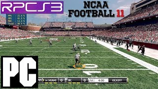 PS3 Emulator | NCAA 11 Football on PC HD RPCS3 i7 4790k EA Sports
