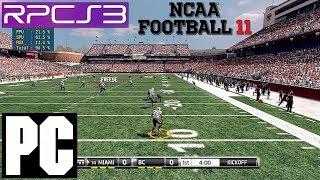 PS3 Emulator   NCAA 11 Football on PC HD RPCS3 i7 4790k EA Sports