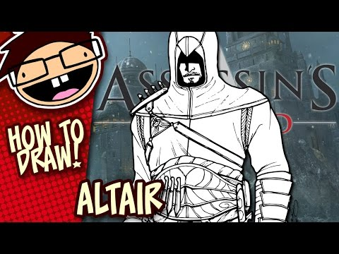 How to Draw ALTAIR (Assassin's Creed) | Narrated Easy Step-by-Step Drawing Tutorial