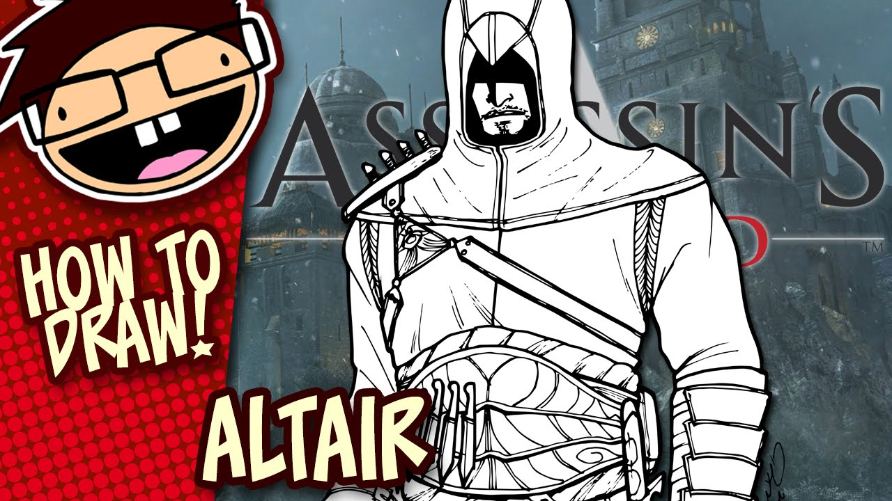 How To Draw Altair Assassin S Creed Narrated Easy Step