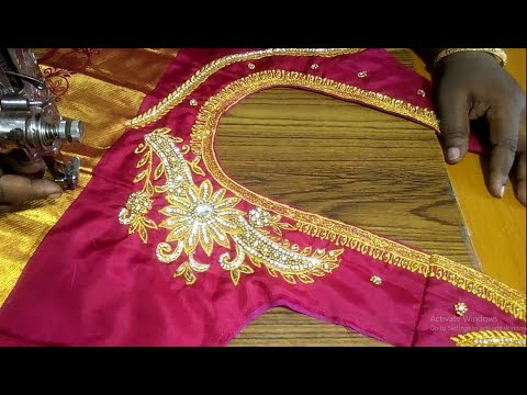 Embroidery and aari work blouse measurement
