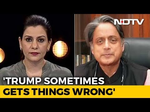 PM Modi Must Clarify What He Said To Donald Trump: Shashi Tharoor To NDTV