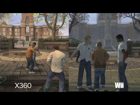 Bully Comparison Xbox 360 VS Wii VS PS2 HD