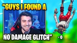 SypherPK Finds NO FALL DAMAGE GLITCH | Fortnite Daily Funny Moments Ep.295