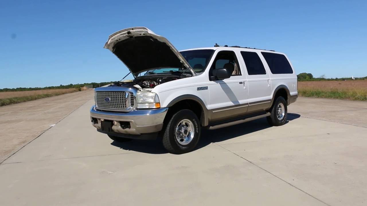 Review of 2002 ford excursion limited 4x4 for saledvd3rd row7 3l turbo dieselrare