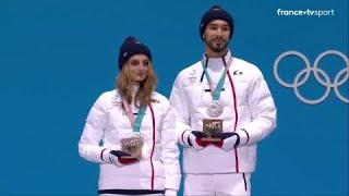 JO 2018 : Patinage artistique - Danse sur glace. Papadakis et Cizeron reçoivent leur médaille