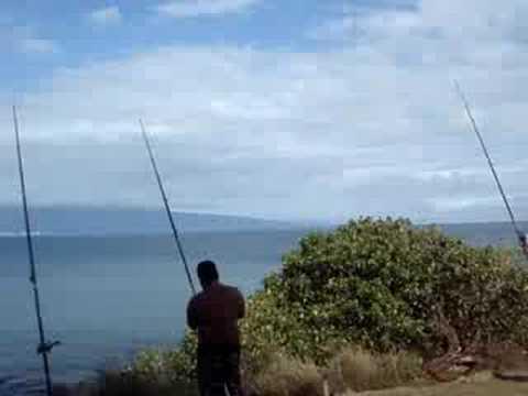 Casting practice ulua style youtube for Fishing big island hawaii