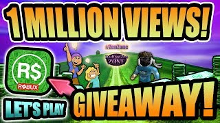 🎁1 MILLION VIEWS CELEBRATION + 2 ROBUX GIFTCARDS GIVEAWAY 💵LETS PLAY (Roblox 2019)